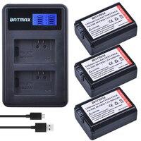 3Pcs 2000mAh NP FW50 NPFW50 NP FW50 Batteries LCD USB Dual Charger 2 Port Pg Forlu