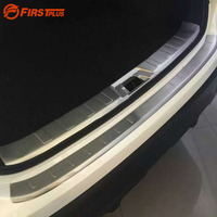 For Nissan Qashqai 2016 Car Boot Rearguards Stainless Trunk Trim Steel Rear Bumper Fender Sill Plate