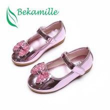 New Summer Autumn Children Shoes Girls Sandals sequins Bow Princess lea