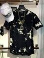 2016 бальзам Хип-Хоп Уличной майка tie dye Топы Tee расширенные боковые молнии майка Мужчин Swag urban Clothing kanye west hba