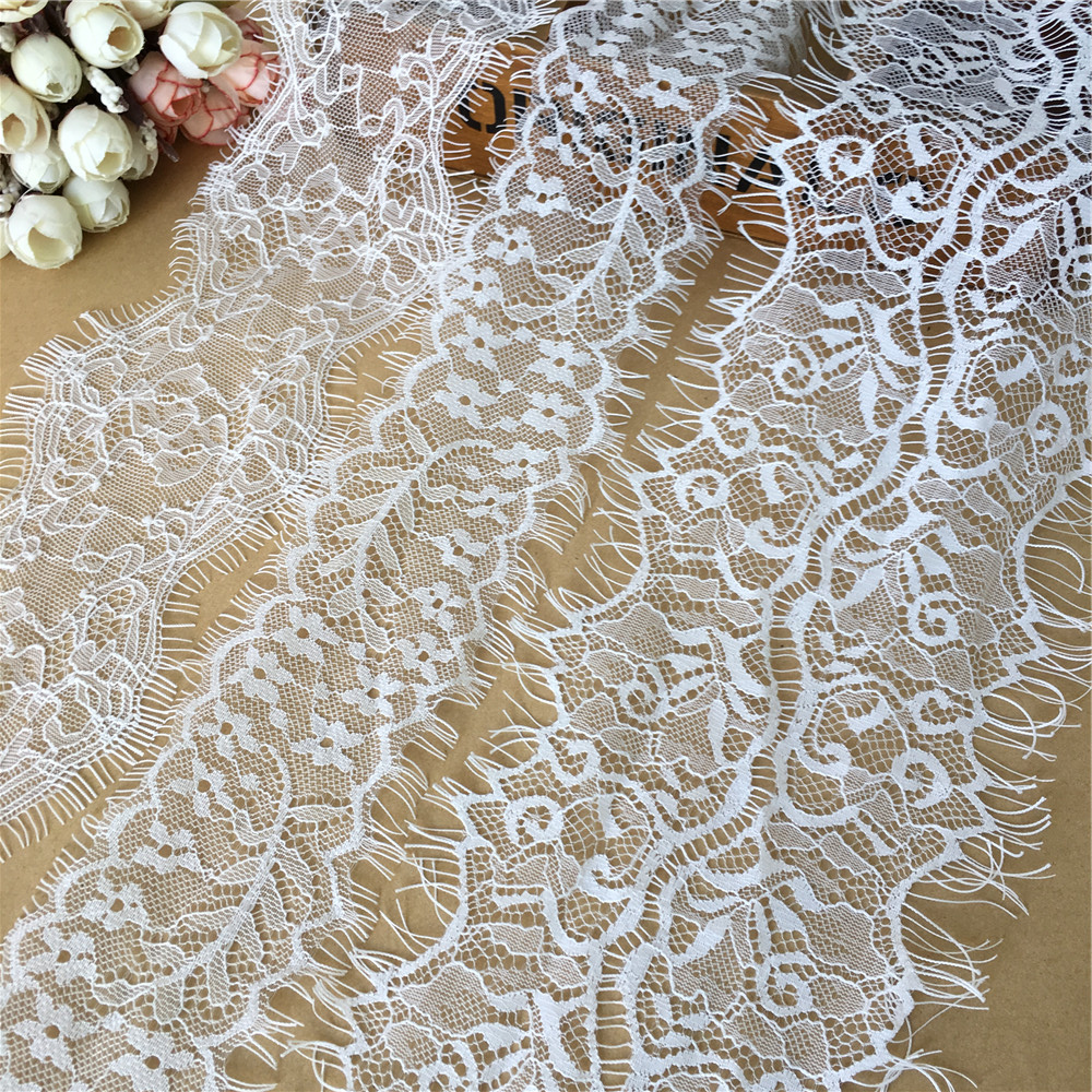 CRAFT-SEWING-LACE 3mtrs x 50mm Black Delicate Netting Design Lace