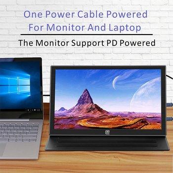 10.8 polegadas IPS 1920 * 1080 USB-C com PD Carga rápida Display portátil-USB C / HDMI Entrada de vídeo Monitor LCD portátil .Gaming Display 1
