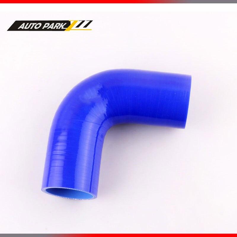 ③BLEU 57mm 90 Degrés Coude Silicone Tuyau d arrosage Turbo ... 884da8dc97a