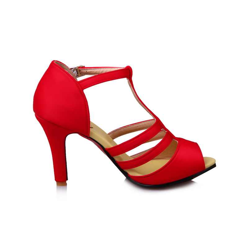 2017 große Größe 34-52 Direct Selling Sale fashion Feminino sommer Sandalen Damen Dame Fashion dance party Schuhe High Heel 997