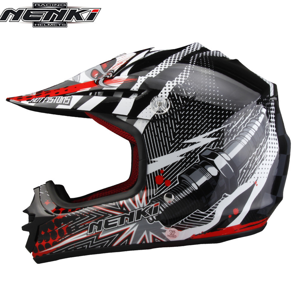 цена на NENKI Kids Motocross Motorcycle Helmet Children Casque Child Capacete Casco Enfant Moto MTB Boys DH Dirt Bike Youth Kask