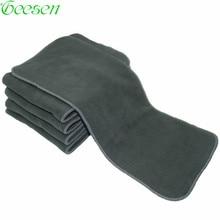 Reusable Dewasa Popok Kain Popok Liners Insert Super Absorbent Bamboo Arang Dicuci Mengubah Pad Cloth Diaper Sisipan