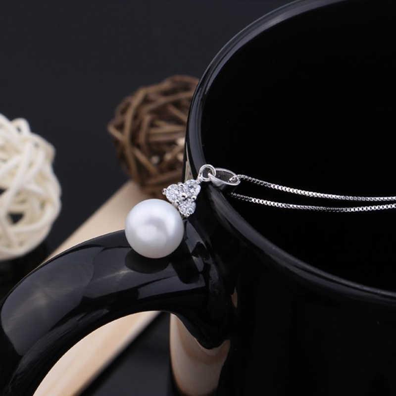 WATTENSมงกุฎสีดำสีขาวมุกต่างหูจี้,เครื่องประดับแฟชั่นใหม่มุกธรรมชาติชุด,พรรคชุดเครื่องประดับ,กล่องเครื่องประดับ