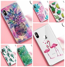 Trendy Leuke Cactus Ananas Patroon Case Voor iPhone X XS Max XR 7 8 6 6S Plus 10 5 S 5 S SE Ultra Dunne TPU Cover Telefoon Gevallen(China)