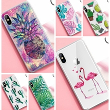 Trendy Cute Cactus Pineapple Patterned Case For iPhone X XS