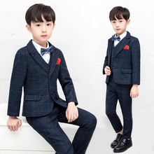 цена Teen Boys Suits for Weddings Costume Enfant Garcon Mariage Boys Blazer Kids Party Suits Z4 онлайн в 2017 году