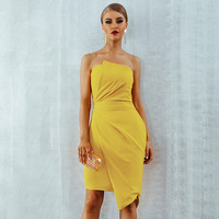 rockabilly boho party sexy maxi dinner night evening knitted club dresses plus size 2019 women summer lemon pleated fashion