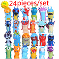 2017 New 24pcs/set 5cm Anime Cartoon Slugterra Mini PVC Action Figures Toys Dolls Child Toys