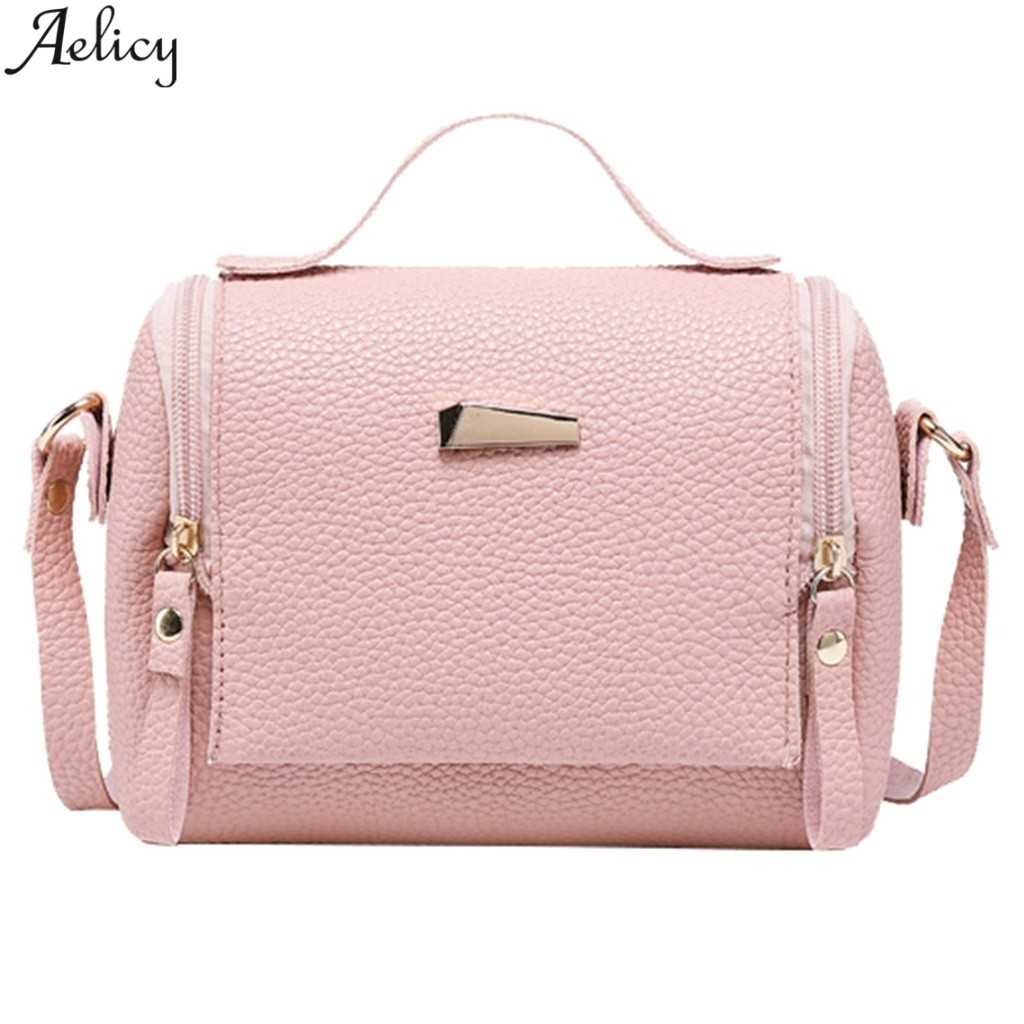 Aelicy Pillow Bag Women Solid Pu Leather Shoulders Bag Fashion Soft Messenger Bag Versatile Handbag Leisure Crossbody Bag NEW