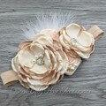 Sparking Strass em camadas Flor de Harmonização Headband Handmade Headband Da Flor Do Bebê Headband