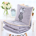 Plush blanket 1pc 150cm cartoon zebra elephant giraffe lion monkey soft office rest cushion stuffed toy creative gift for baby