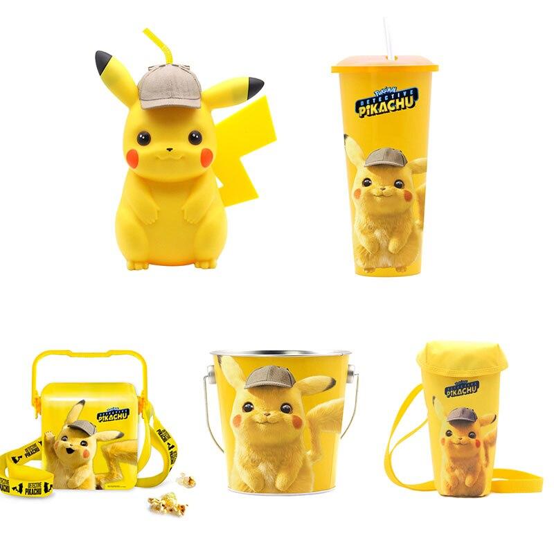 New Movie Detective Pikachu Cosplay Mug Cup Accessories Popcorn Bucket