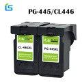2 Stks/set PG-445XL PG445 CL-446 XL Bijgevuld Inktcartridge Vervanging voor Canon PG 445 CL 446 voor Canon PIXMA MX494 MG2440 MG2540