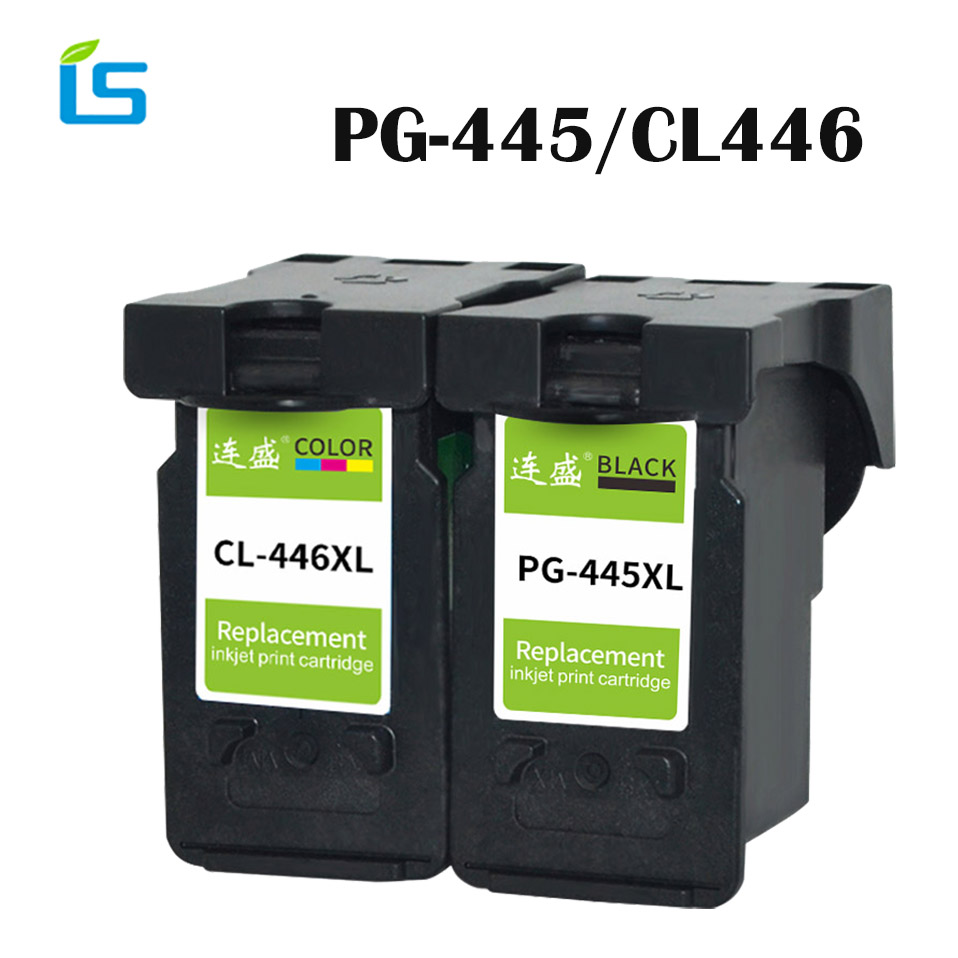 2Pcs/set PG-445XL PG445 CL-446 XL Refilled Ink Cartridge Replacement for Canon PG 445 CL 446 for Canon PIXMA MX494 MG2440 MG2540