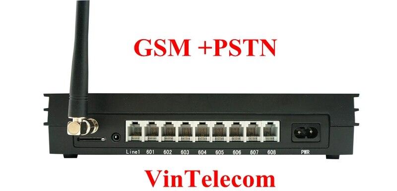 Chine PBX usine VinTelecom MS108-GSM Mini PBX/PABX tableau/Centralino PABX/sans fil PBX système de téléphone-2016 nouveau