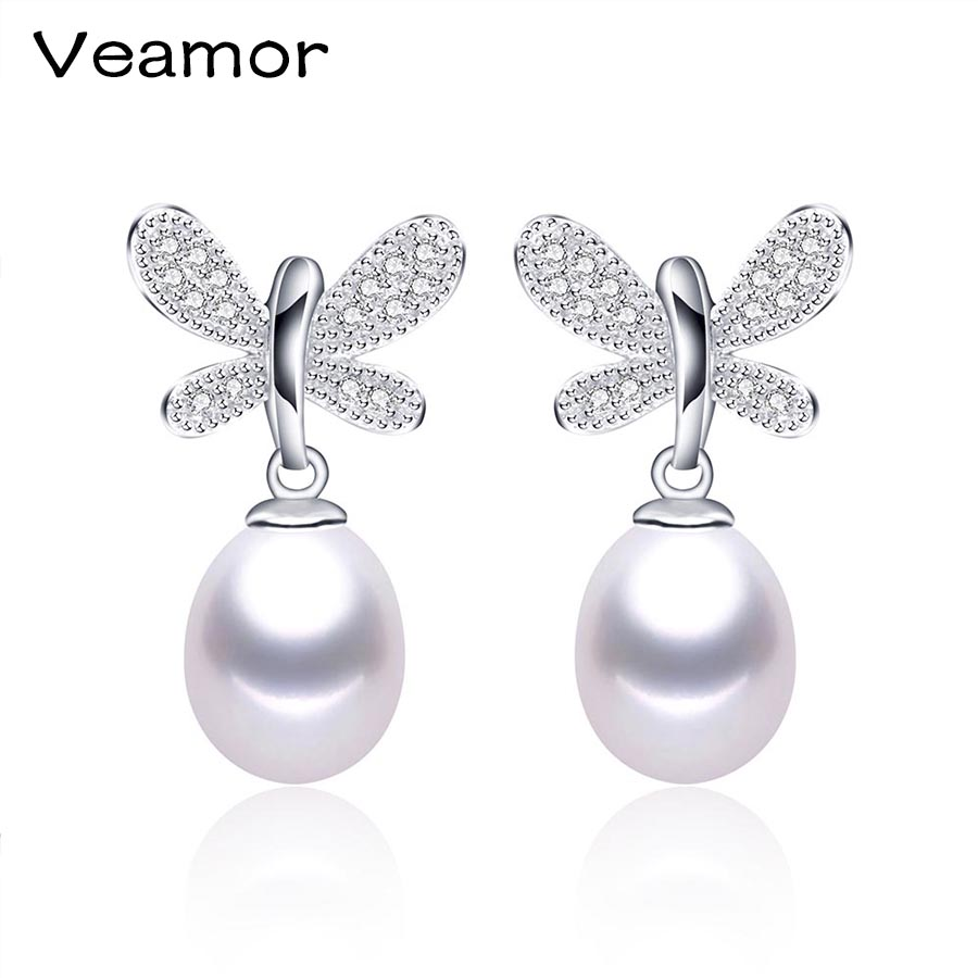 2016 New 100% Genuine Freshwater Pearl Earrings Gold Plate Long Drop  Earrings For Women Earring