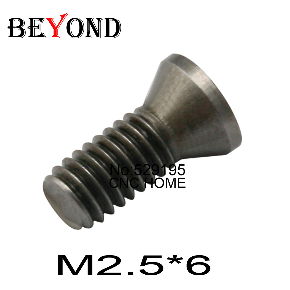 50pcs M2.5*6mm Insert Torx Screw For Replaces Carbide Inserts CNC Lathe Tool Lathe Accessories