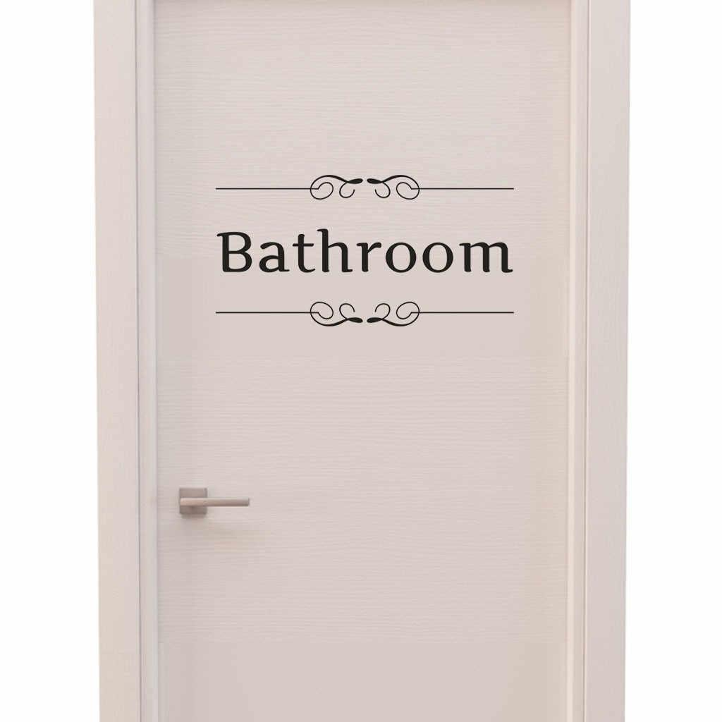 Дропшиппинг Ванная комната Наклейка для украшения дома дверная наклейка Спальня искусство панно