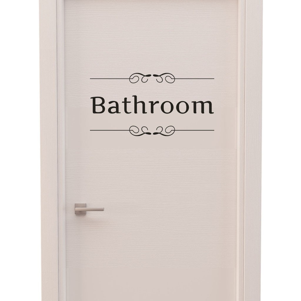 Dropshipping Bathroom Home Decor Sticker  Door Decal Bedroom  Art Mural