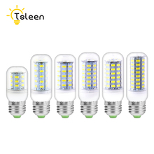 TSLEEN SMD5730 LED Lamp E27 E14 GU10 G9 B22  Bulb 110V 220V Corn 24 36 48 56 69 72LEDs Chandelier Candle Luminaria