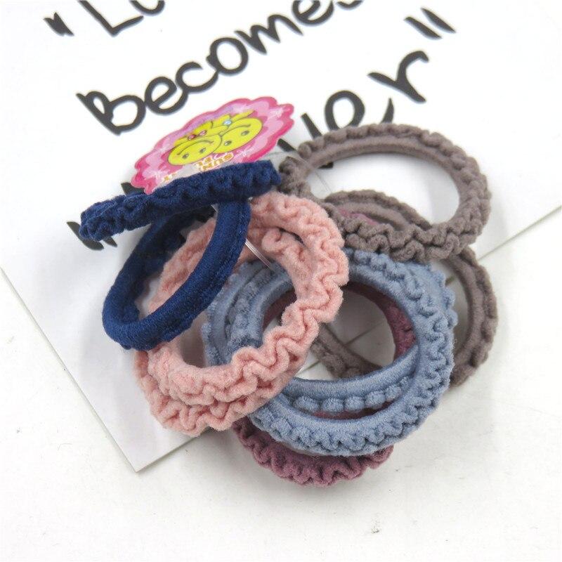10PCS/1SET Pretty 3.5CM Colourful Elastic Hair Bands For Girls Handmade Hair Scrunchy Kids Creative Hair Accessories For Women