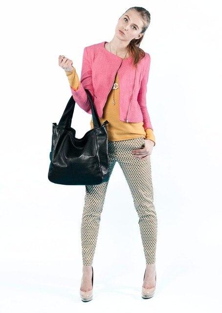2 Sizes ZENCY Bags Handbags Famous Brands Real Genuine Leather Women Handbag Lady Tote Shoulder Messenger Bag