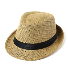 Hot Unisex Fashion Summer  Women Men Beach Sun Straw Panama Jazz Hat Cowboy Fedora hat Trendy Gangster Cap баффи санти мари buffy sainte marie illuminations
