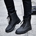 Ankle Stylish Fashion Thread British Style Lace Up Chukka Desert Mens Safety Short Cylinder Army Boots Joker Round Toe Casual