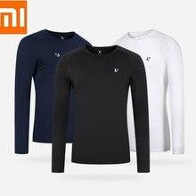 Xiaomi ULEEMARK Men's Sports Long Sleeve T-Shirt Reflective printing Moisture ab