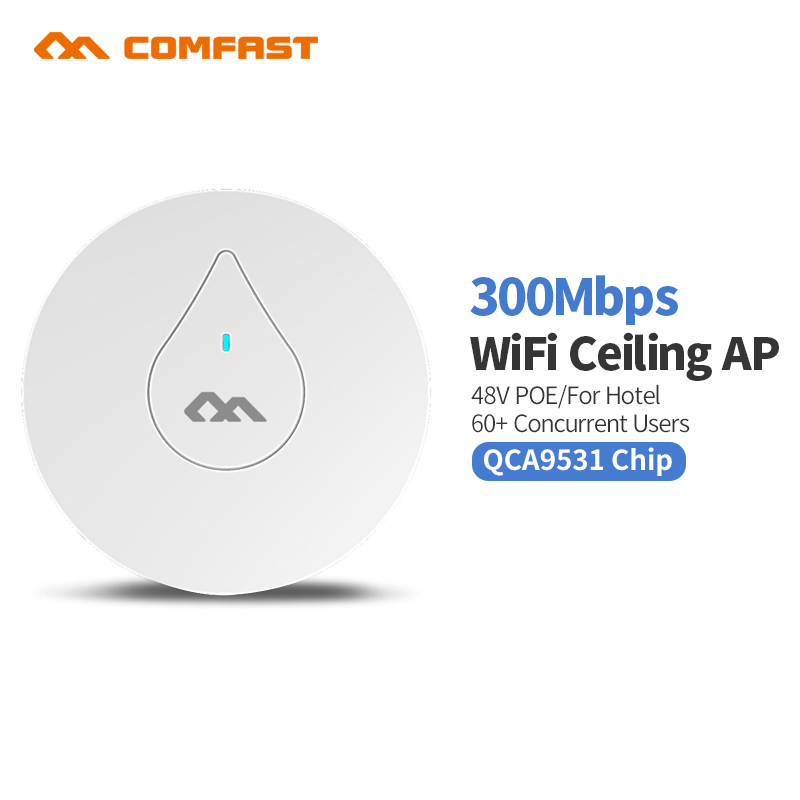 Comfast High Power 300Mbps Wireless Router Repeater Range Extender Router Repeater Access Point Large Wi fi Range Ceiling AP comfast original indoor ap wi fi repeater 1200mbps wireless n router 2 4 5 8g wifi repeater bridge long range extender booster