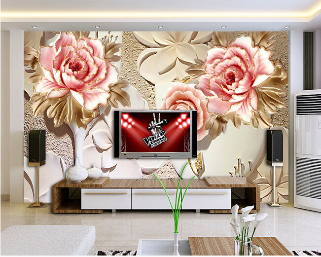 Custom papel DE parede 3 d,flower murals for the living room bedroom TV background wall waterproof wallpaper custom papel de parede infantil see graffiti mural for sitting room sofa bedroom tv wall waterproof vinyl which wallpaper