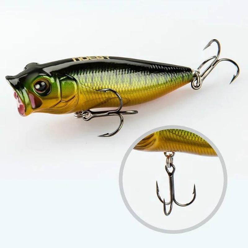 Noeby 2pcs 35m / 2.5g Poppers Fishing Lure Topwater Lure jerkbait Sea - თევზაობა - ფოტო 3