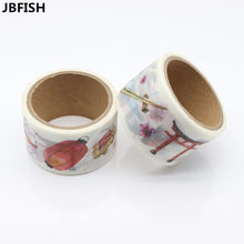 Хорошее JBFISH Vintage Chinese Style Washi Tape Japansese Stationery Cute Masking Tape DIY Scrapbooking Sticker Diary Paper Label 9014