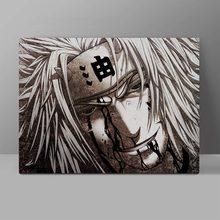 лучшая цена Gallant Jiraiya Canvas Naruto Gama Sennin Painting Anime Wall Pictures Cotton Collection Poster