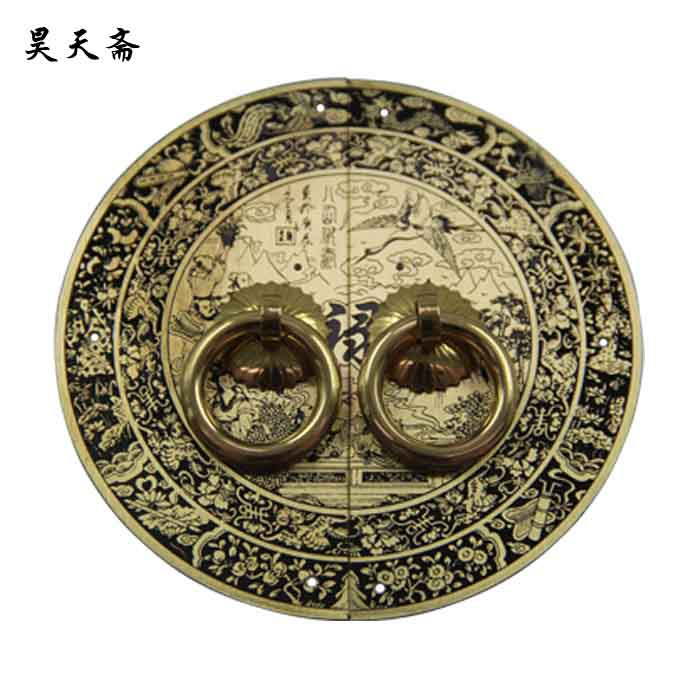 [Haotian vegetarian] bronze Chinese antique copper door handle cabinet handle classical copper Gods hi Paul paragraph chinese folk classical bronze desert twin peaks camel llama statue