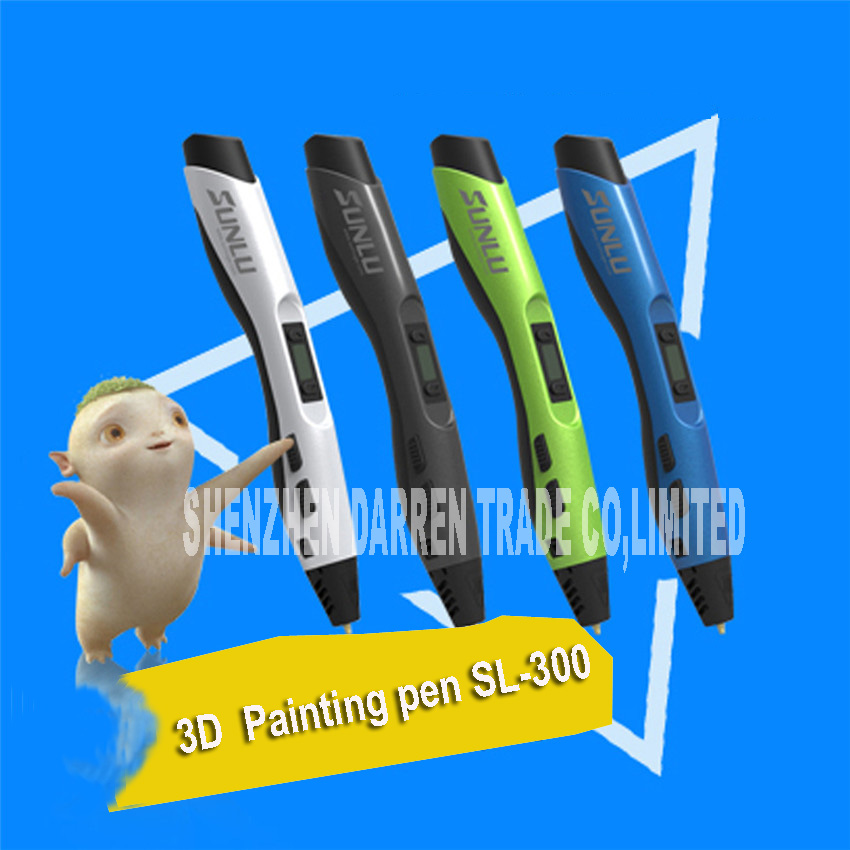 The Third Generation of 3D Drawing Pen SL-300 Children's Printer 3D Stereo Graffiti Painting Pen Creative Pen DC12V 2A 24W Hot основы рисунка 3 the fundamentals of drawing 3 3