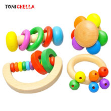 Children Wood Pacifier Baby Hand Chupeta Infant Dummy Holder Kid Nibbler Teat Colorful Soother Teether Mouth Care T0571(China)