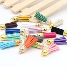 5Pcs Suede Tassel Fringe DIY hat Clothing package Key Chain Bag Findings Pendants Crafts Handmade Jewelry Making Accessories(China)