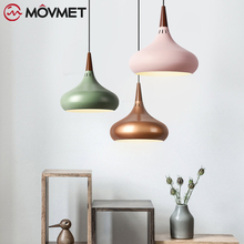 Nordic E27 Led Pendant Light Colorful Suspend Lamp Dining Room Indoor Lighting Fixtures