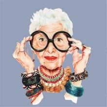 Модный бабушка, ПВХ патч, надпись «deal with it», одежда, термопечать, футболка, женские термоклейкие патчи для одежды, тканевые наклейки