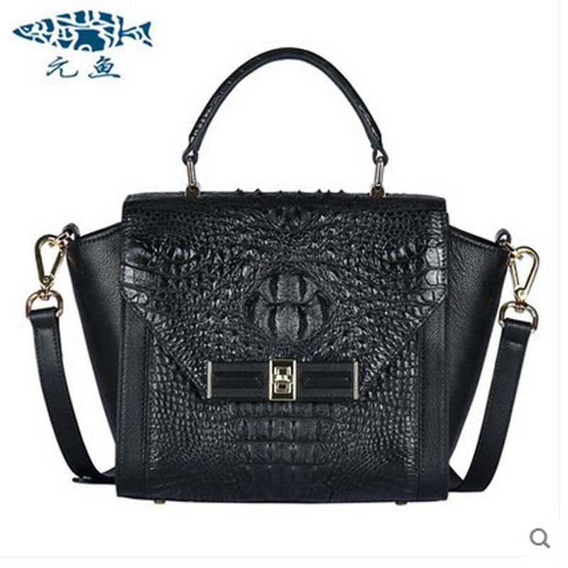 yuanyu 2018 new hot freeshipping crocodile handbag thai crocodile leather women bag women trapeze bag Authentic wings packag