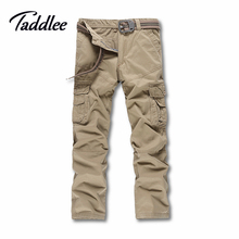 Taddlee Brand Europe size Men's Cargo Work Pants Casual Mens Pants Multi Pocket Military Men Slim Fit Straight Long Trousers
