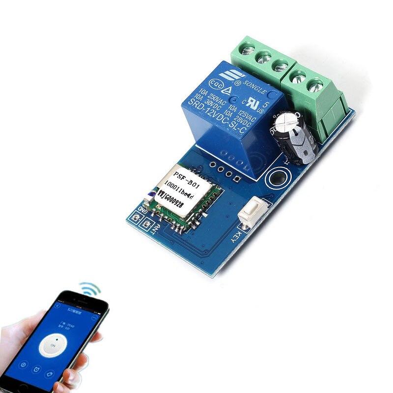 DC 12 V Sans Fil Wifi Relais Commutateur Module Mobile Téléphone Télécommande Minuterie Auto-Verrouillage de Faible Puissance Pour Android IOS Smart Home