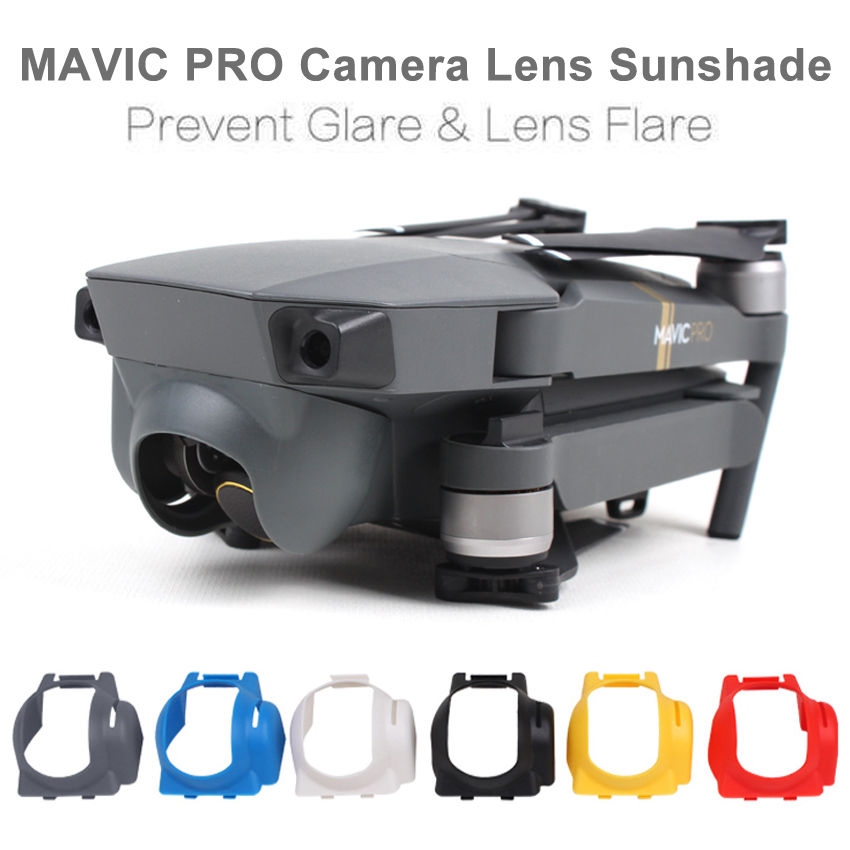 Sunnylife MAVIC PRO Camera Lens Sun Hood Sunshade Anti Glare Camera Gimbal Protector for DJI Mavic