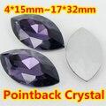 Tanzanita Forma Navette Cristal Fancy Stone Point Volver Cristal de Piedra de La Joyería DIY Accessory.5 * 10,7*15,9*18mm, 13*27,4*15mm, 17*32mm