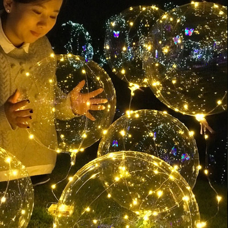 Christmas Decoration  Bubble LED Balloon Lamp Transparent Party Decoration Helium String Light Child Play Holiday Christmas Gift